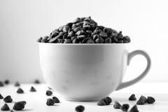 czarna kawa białej czekolady Fotografia Royalty Free