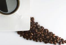 Czarna kawa espresso Zdjęcia Royalty Free