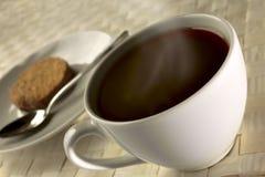 czarna kawa, śniadanie z bliska Zdjęcie Royalty Free