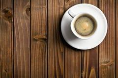 Czarna kawa w filiżance Fotografia Royalty Free