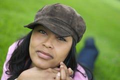 czarna kobieta Zdjęcia Royalty Free