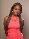 czarna kobieta modna Fotografia Stock