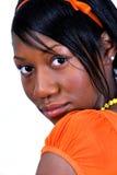 czarna kobieta nastolatków. Obrazy Stock