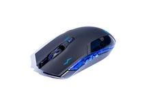 Czarna komputerowa hazard mysz na białym tle Obraz Stock