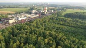 Czarna kopalnia węgla, antena strzał, CSM – widok z lotu ptaka trutniem zdjęcie wideo
