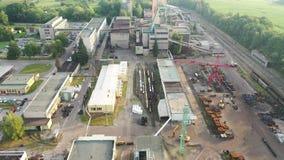 Czarna kopalnia węgla, antena strzał, widok z lotu ptaka trutniem zdjęcie wideo