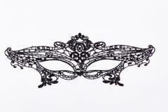 Czarna koronki maska dla maskarady Obrazy Royalty Free