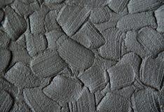 Czarna kosmetyczna glina, opakunek tekstura zamknięta w górę/twarzowa maski, śmietanki, ciała/, selekcyjna ostrość Abstrakcjonist zdjęcie stock