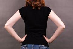 Czarna koszulka dla kobiet zdjęcia stock
