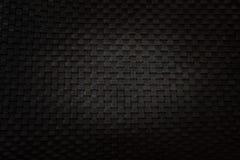 Czarna koszykowa tekstura z światłem na centrum Obrazy Stock