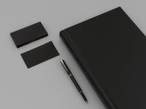 Czarna książka i wizytówka ilustracja wektor