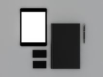 Czarna książka i wizytówka Zdjęcie Royalty Free