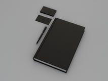 Czarna książka i wizytówka Fotografia Stock