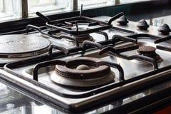 Czarna kuchenka Zdjęcia Stock