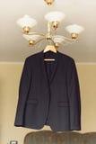 Czarna kurtka na połysku Zdjęcia Royalty Free