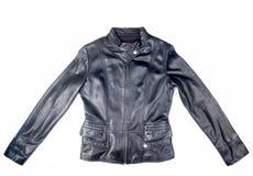 czarna kurtka skóry Fotografia Royalty Free