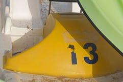 Czarna liczba trzynaście w stronie przyjemności łódź obraz royalty free