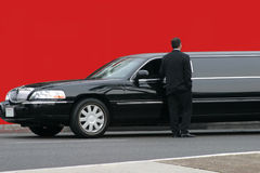 czarna limuzyna Obrazy Royalty Free