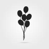 Czarna lotniczego balonu ikona z cieniem Fotografia Stock