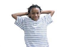 czarna męska młoda młodości Zdjęcie Stock