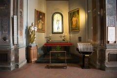 Czarna madonna bazylika S Sebastian, Biella, Włochy Fotografia Royalty Free