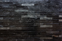 Czarna marmurowa kamienna ściana Obraz Stock