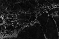 Czarna marmurowa podłoga deseniująca dla tło tekstury Fotografia Royalty Free