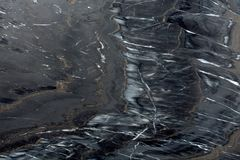 Czarna marmurowa tekstura na makro- Fotografia Stock