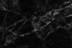 Czarna marmurowa tekstura w naturalny wzorzystym dla tła i projekta Zdjęcia Stock