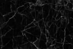 Czarna marmurowa tekstura w naturalny wzorzystym dla tła i projekta Zdjęcie Stock