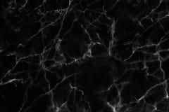 Czarna marmurowa tekstura w naturalny wzorzystym dla tła i projekta Obrazy Royalty Free