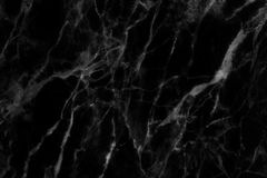 Czarna marmurowa tekstura w naturalny wzorzystym dla tła i projekta Zdjęcie Royalty Free