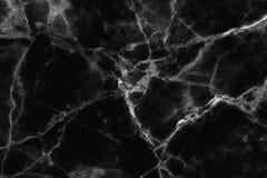Czarna marmurowa tekstura w naturalny wzorzystym dla tła i projekta Zdjęcia Royalty Free