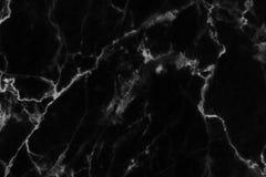 Czarna marmurowa tekstura w naturalny wzorzystym dla tła i projekta Obraz Royalty Free