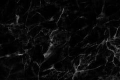 Czarna marmurowa tekstura, wyszczególniająca struktura marmur w naturalny wzorzystym dla tła i projekt, Fotografia Stock