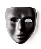 Czarna maska na białym tle Obraz Stock
