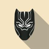 Czarna maska super bohater w płaskim projekcie również zwrócić corel ilustracji wektora Obrazy Royalty Free