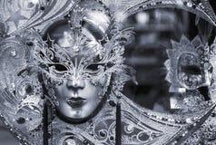 czarna maska venetian white fotografia royalty free