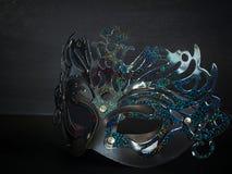 Czarna maskowa piękno moda Zdjęcia Stock