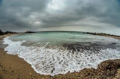 Czarna morze plaża Fotografia Royalty Free
