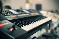 Czarna muzykalna klawiatura Obrazy Stock