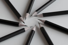 Czarna ołówek formacja fotografia stock