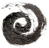 Czarna obraz olejny spirala fotografia royalty free