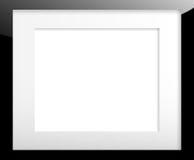 Czarna obrazek rama z passe równym konikiem Obraz Royalty Free