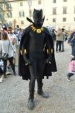 Czarna pantera przy Lucca komiczkami 2014 i grami Fotografia Stock