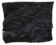 Czarna Papierowa tekstura, Miąca Papierowa tekstura, odizolowywająca na białym tle Zdjęcie Royalty Free