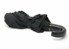 czarna parasolka Obrazy Stock