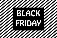 Czarna Piątek sprzedaży promocji tła pasiasta ilustracja ilustracja wektor