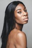 Czarna piękna kobieta z perfect skórą Obrazy Royalty Free