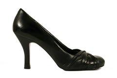czarna piętowa wysokość buta kobieta Obrazy Royalty Free